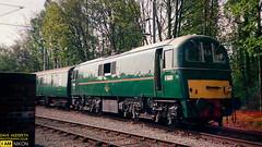 E5001 (dave hudspeth photography) Tags: railway train nostalga diesel track transport britishrail iconic davehudspethgrey red blue gner crewe york newcastle