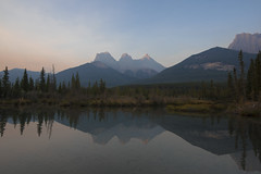 The Three Sisters Mountain Range - Canmore, Alberta, Canada (jack.mihlenstedt) Tags: