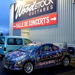 "Peugeot 206 customisée ""Iron Maïden""  -   Peugeot 206 customized ""Iron Maïden"" (Philippe Haumesser Photographies (+ 5000 000 views) Tags: auto automobile car cars autos automobiles voitures custom peugeot206coupé woodstockguitares parking sonyilce6000 sonyalpha6000 sony 2017"