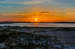 Big Lagoon On Fire (telazac) Tags: onfire sunny sand landscape sunset pensacola glory canont5i weather orange intercoastal sun blue ocean lagoon johnsonbeach clouds coastal florida sky seascape biglagoon fire perdidokey perdido unitedstates us