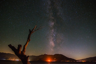 Milky Way Core Over Lake Isabella
