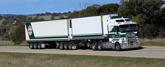 Shades of Green KENWORTH Day (Jungle Jack Movements (ferroequinologist)) Tags: seven kenworth six company green jerrawa nsw new south wales australia truck tractor prime mover diesel injected motor engine driver cab cabin fast brake wheel exhaust loud rumble beast hood hp horsepower gear oil haul haulage freight cabover trucker drive transport carry delivery bulk lorry hgv wagon road highway nose semi trailer double b deliver cargo interstate articulated vehicle load freighter ship move roll power grunt teamster shades truckrun truckerstocht