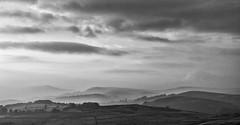 Mist over Hathersage (MikeONeil) Tags: monochrome peakdistrict cloud fields blackandwhite hill rx100 sky