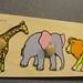 WP191, inlegplank 4 st. wilde dieren