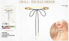 💎 Amala - The Elle Choker for C88 Birthday 💎 (Crystal Cranberry) Tags: amala c88 collabor88 accessories choker birthday