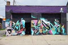 worth (drew*in*chicago) Tags: littlevillage chicago 2017 hispanic community neighborhood kiosk graffiti tag mural art artist paint painting street
