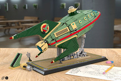 Lego Planet Express - launchpad (Nicola Stocchi) Tags: lego futurama planet express ship space spaceship future launchpad minifigure