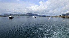 Leaving Greencastle, County Down for Greenore, Co Louth ... on the new ferry. (ronmcbride66) Tags: ferryservice greencastle greenore ireland northernireland border waterscape boats pier harbour hills landscape ferry tourboat cooleymountains colouth