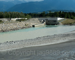 Power Station Illspitz, Feldkirch, Austria (jag9889) Tags: 2017 20170805 at aut alpenrhein alpinerhine austria barrage europe feldkirch fluss hydropower kraftwerk oesterreich outdoor rein reno republic rhein rhin rhine rijn river stauwehr stream strom tributary vorarlberg wasser water waterway weir jag9889 rüthi sanktgallen switzerland ch