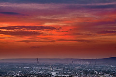 Sunset over the city (uiriidolgalev) Tags: landscape sunset summer red sky clouds hills outside