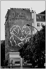 Paris 20ème Ménilmontant (g.thevenot) Tags: noirblanc blackwhite negroblanco art arte fresque painting pinture tag france rue street calle menilmontant paris city ville ciutad sony nex6 europe