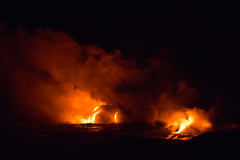 Lava Flowing into the Ocean (mhawkins) Tags: bigisland hawaii lava