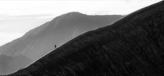 (cherco) Tags: alone solitario man vulcano java bromo lonely walk mountain landscape blackandwhite blancoynegro panoramic panoramica composition composicion canon canoneos5diii aloner andar scale