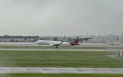 TACA Embraer E190 N987TA Houston flood diversion to Dallas Fort Worth Airport webcam capture (AirportWebcams.net) Tags: taca embraer e190 n987ta houston flood diversion dallas fort worth airport webcam capture dfw kdfw