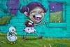 Sugar Hill mural (Dennis Valente) Tags: sugarhill 5dsr usa building art contemporaryurbanart streetart seattle cinderblock paint theydrift urbanart 2017 trashbin pnw greasetrap 32bit hdr isobracketing washington wall capitolhill mural alley