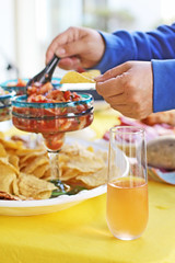 (katiegodowski_photography) Tags: foodporn foodie foodphotography drinks champange product outside outdoors salsa photography photographer photoshop images amateurs amateur explore sausalito chips