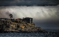 What deposits hide within the cloud bank (John A. McCrae) Tags: juandefuca straitofjuandefuca clouds cloudformation eastsooke sooke sookeharbour pacificocean westcoast seaside seascape britishcolumbia bc washington vancouverisland pentaxk5 pentax