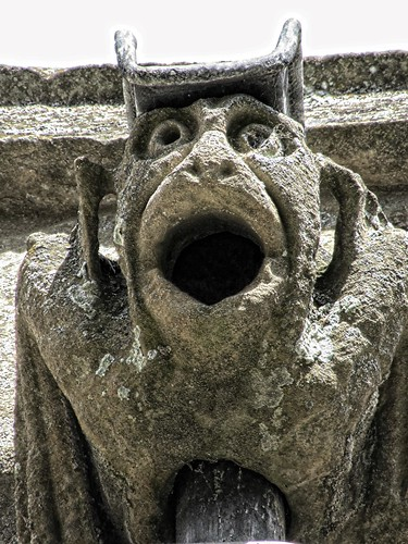 Jug-eared gargoyle close-up
