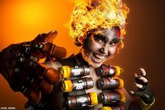 Junkrat... (Ring of Fire Hot Sauce 1) Tags: cosplay junkrat overwatch sandiegocomiccon sdcc kennyletelier fire flames