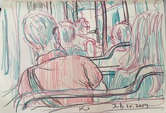 in the train (kumi matsukawa) Tags: uskchicago2017 sketch symposium