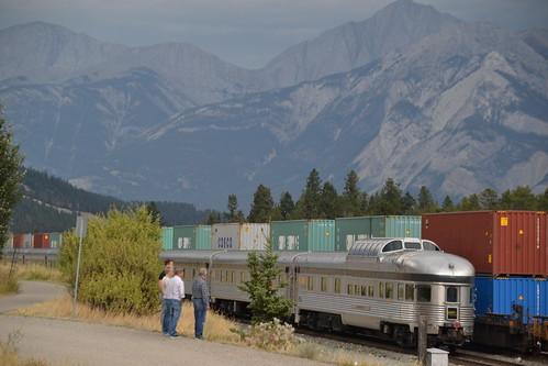 Three Passenger Trains in Jasper