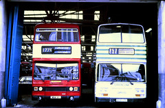 Slide 100-76 (Steve Guess) Tags: west midlands wmpte leyland titan wda5t selkent green line olympian coach ecw england gb uk london transport buses lcbs country b106lph lrc6