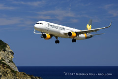 Thomas Cook A321 ~ G-TCDL (© Freddie) Tags: skiathos thessaly sporades aegean greece thomascook airbus a321 gtcdl skiathosairport lgsk jsi ©freddie fjroll