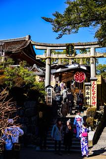 清水寺の後ろ辺にある地主神社 - Jishu Shrine, located behind the Kiyomizu Temple