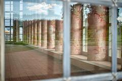 DSC04855 (eugenuity) Tags: pillar reflection window panel pane hall building room
