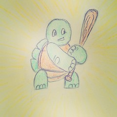 My drawing today! Please, be gentle! :-D (Argyro Poursanidou) Tags: drawing cartoon sketch turtle