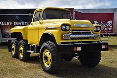 1959 Chevrolet Apache 38 6X6 pickup truck (Custom_Cab) Tags: m135 gmc htt 1959 chevrolet chevy apache 38 series pickup truck pick up yellow 6x6 6wd 6 six wheel drive custom tandem axle monster
