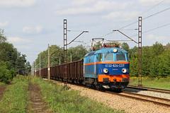 """ET22-1034-5281 by Piotr Kozlowski - Empty coal train Świerże  Górne – Petrovice u Karviné, and group of wagons to coalmine """"Piast"""", Train is approaching Imielin.  (8.09.2017)"""