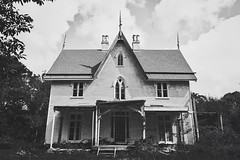 Dream home (hbarnetphoto) Tags: abandoned rurex eerie architecture gothicrevival historic newengland canon bnw mansion abandonedhouse bando