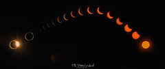 The Great American Eclipse (The Potter's Hand Photo) Tags: photoofthesun sunphotography solarphotography night black glow orange gold golden burst flare sunflare arch arc composite sequence sequential eclipse solareclipse totalsolareclipse sun sky lunar moon celestial timelapse totality nikond90 70200mm f8 mooneclipsesthesun solar darknessduringtheday whendaybecomesnight totaleclipseoftheheart