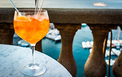 Aperol Spritz in Sorrento. (fabioseda) Tags: 500px cup city europe architecture glass relax landmark leisure drinks cheers urban exploration turism italy vacation summer sea sorrento eurotrip aperolspritz good afternoon