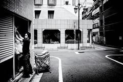 August 07, 2017.jpg (pavelkhurlapov) Tags: shinjukuku lamppost streetphotography contrast monochrome laundry corner hotel