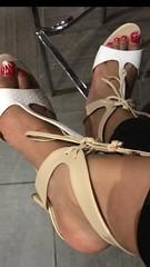 Heels of the week.Double Trouble!! #theorginalwifeysexyfeet  #ebonygoddess #soulful #feetmodel #foot #toes #rednails #orange #blackwhite #decisions #girlstruggles #neosoul #loveandbasketball #whatiwear #whitenails #teamprettytoes #prettytoes #footgoddess (Wifey's Sexy feet) Tags: theorginalwifeysexyfeet ebonygoddess soulful feetmodel foot toes rednails orange blackwhite decisions girlstruggles neosoul loveandbasketball whatiwear whitenails teamprettytoes prettytoes footgoddess