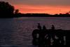 Ducks at Sunset - Calf Heath Reservoir (Peter Starling) Tags: calfheath peterstarling reservoir sunset dusk water pier silhouete silhouette