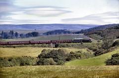 063 45214 coasts towards Dunblane  nr Doune with09-40 Callander-Stirling 29-06-65 (John Boyes) 063 (Ernies Railway Archive) Tags: dounestation callenderobanrailway cr caledonianrailway lms scotrail