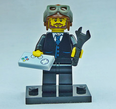 Brick Yourself Custom Lego Figure Stylish Gamer Pilot