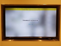No network for the transitBox (jepoirrier) Tags: tv screen error transit transitscreen transitbox