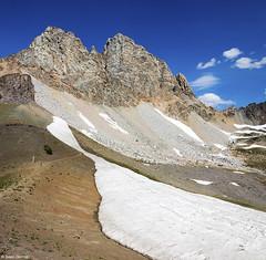 Buck Mountain Snowfield (isaac.borrego) Tags: uploadedviaflickrqcom mountain peak alpine alaskabasin grandteton nationalpark wyoming canonrebelt4i jacksonhole mountains snow winter unitedstates america