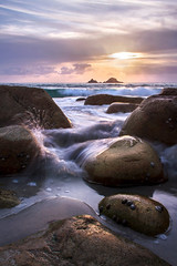Porth Nanven Sunset (Andrew Hocking Photography) Tags: porthnanven cotvalley boulders beach sea seaside cornwall outdoor sunset coast longexposure summer