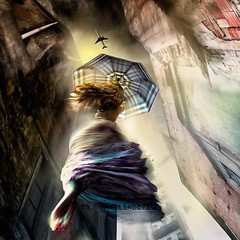 Flirting with the skies (Silvia Andreasi) Tags: silviaandreasi artphotography movement moving blur surrealism surreal surrealmood ruins umbrella colorful colours colors multicolor woman jump airplane sky skirt perspective perception dreamscape flight imagination imaginary imagesbeyondmirror impressionism light lightness sunlight misty outside storytelling squareformat buildings photomanipulation conceptualphotography contrast me air fairytale fantasy fabric fall falling singularity wall view dark dress fineartphotography flare hope herojourney ethereal inspiration inner joy loneliness