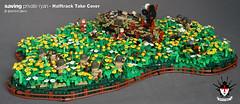 LEGO Saving Private Ryan - Halftrack Take Cover (Barthezz Brick) Tags: moc lego ww2 world war 2 saving private ryan 2nd rangers ss panzer division 101st airborne 506pir custom barthezz brick dday normandy 1944 france barthezzbrick