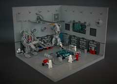 Neo classic space hangar - medical bay (adde51) Tags: adde51 lego moc medical bay hangar doctor medpod classic space scifi science fiction minifigure foitsop toy classicspace crane exosuit