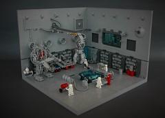 Neo classic space hangar - medical bay (adde51) Tags: adde51 lego moc medical bay hangar doctor medpod classic space scifi science fiction minifigure foitsop toy classicspace crane exosuit