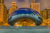 "I've ""bean"" to Chicago (Part 1 of 4) (tquist24) Tags: attplaza chicago cloudgate hdr illinois nikon nikond5300 thebean architecture bluehour buildings city clouds geotagged lights longexposure morning park reflection reflections sculpture sky skyscrapers windows unitedstates millenniumpark"