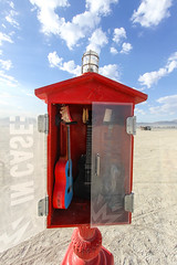 IN CASE: A UKE (Rusty Blazenhoff) Tags: ukulele uke burningman2017 burningman ukuleles emegerncyukes emergency playa blackrockdesert nevada