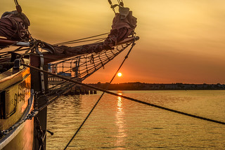Wismar - Golden Hour At The Old Harbour